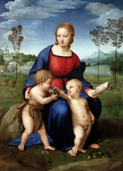 拉斐尔·圣齐奥 Raffaello Sanzio - 金翅鸟圣母像