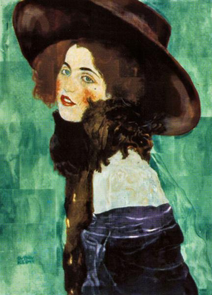 克林姆《年轻女子》。图取自artnet