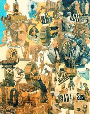 汉娜·霍克1919年创作的作品《用达达餐刀切除德国最后的魏玛啤酒肚文化纪元》