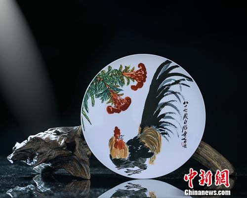瓷上邮票•大吉:集艺术、设计和收藏于一身