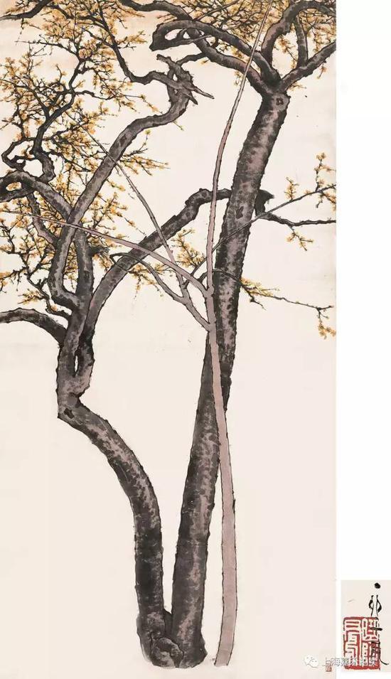 吕凤子(1886-1959)凌梅若玉  设色纸本镜片丁卯1927年作