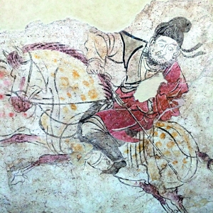 李邕墓壁画《马球图》