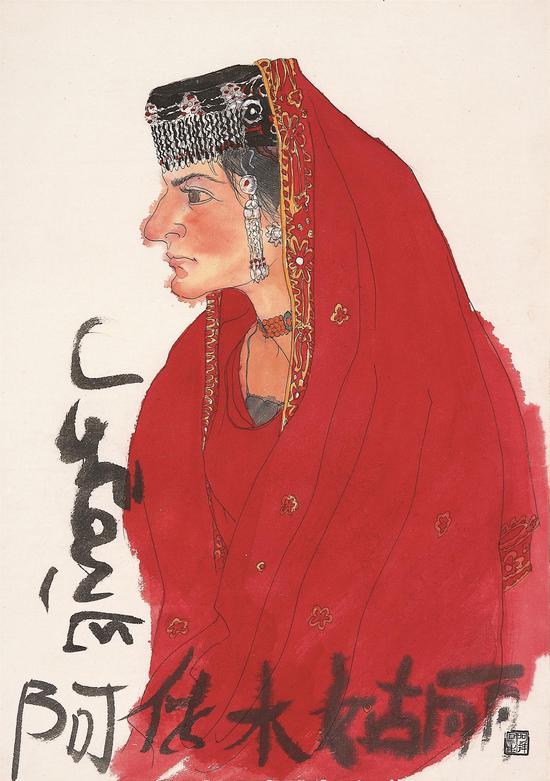 新疆写生人物之四  2013年