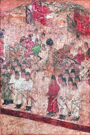 唐代懿德太子墓壁画中的仪仗队