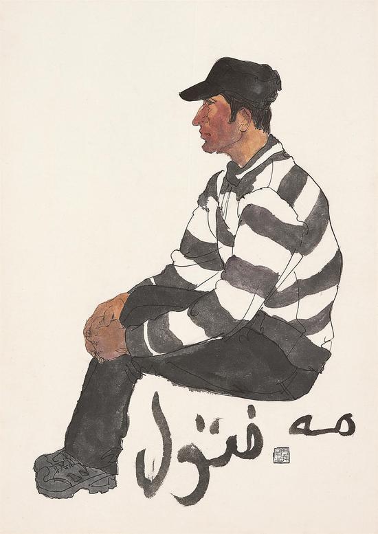 新疆写生人物之十二  2013年