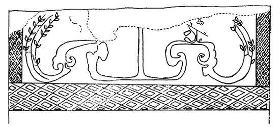 根据壁画手绘的麦穗图