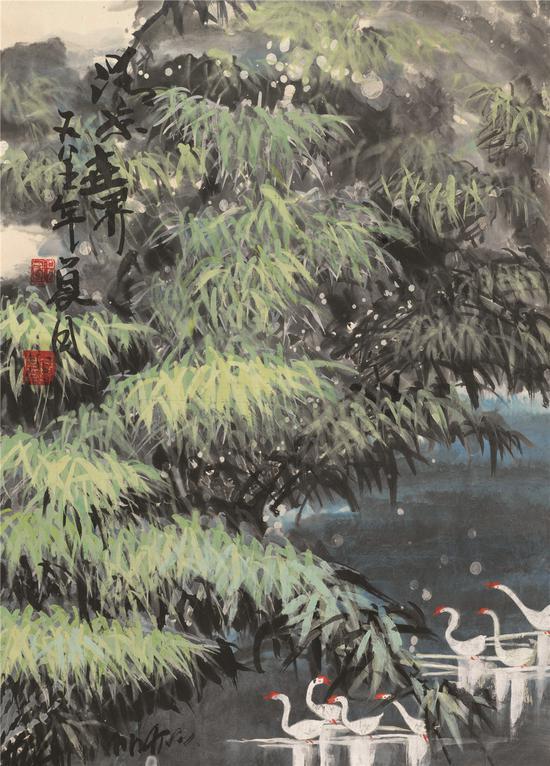 清凉世界 65.5x47.5cm 1985年