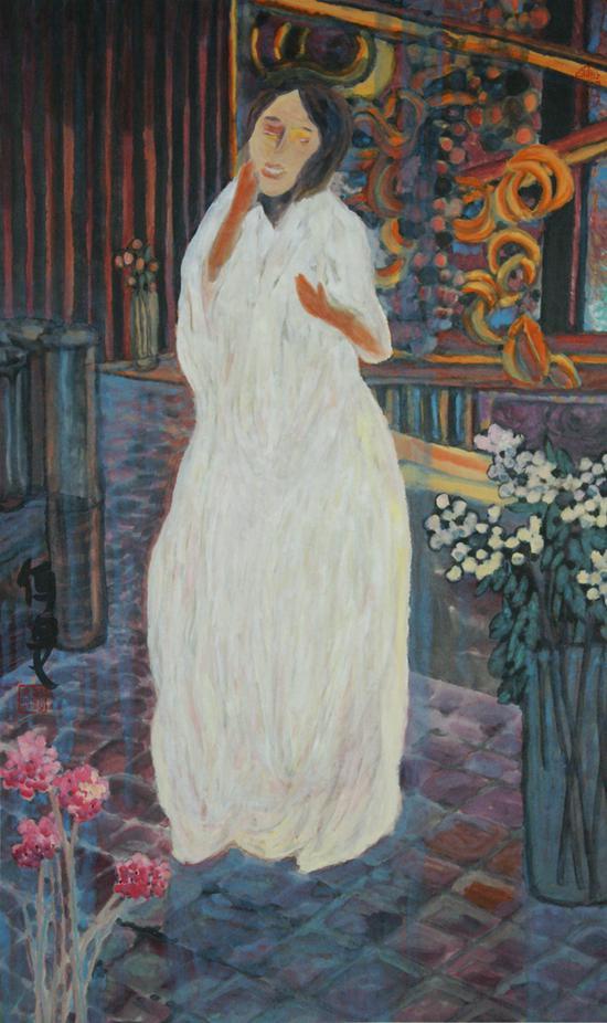 杨佴旻 《春色》 2016年  96.5x60cm  纸本设色