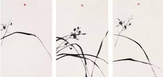《一花一世界》,纸本水墨,69cm×46cm,2014年