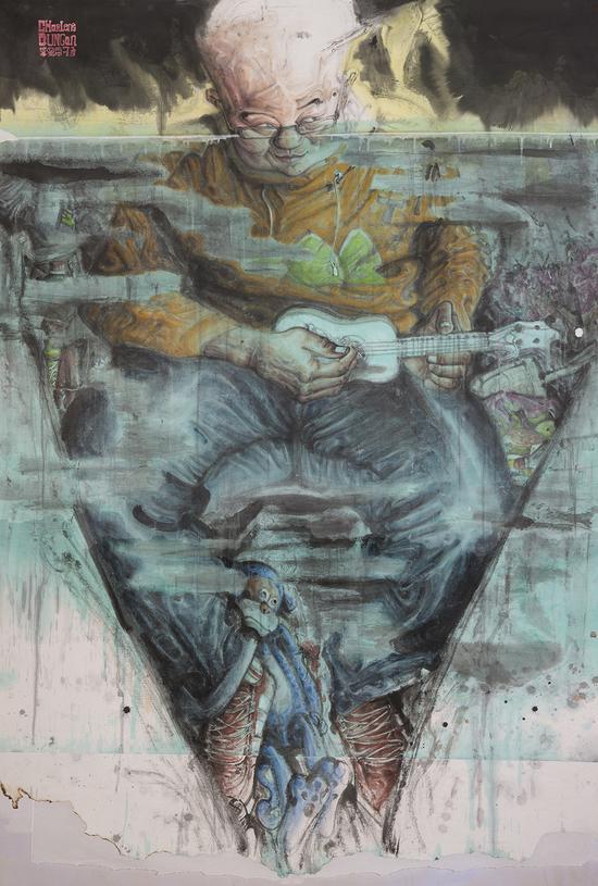 卢晓峰,《Charlene Dungan》,纸本设色,225×310com,2016年