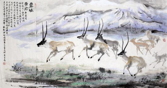 《雪域奇珍》57号 97X180厘米 2012年