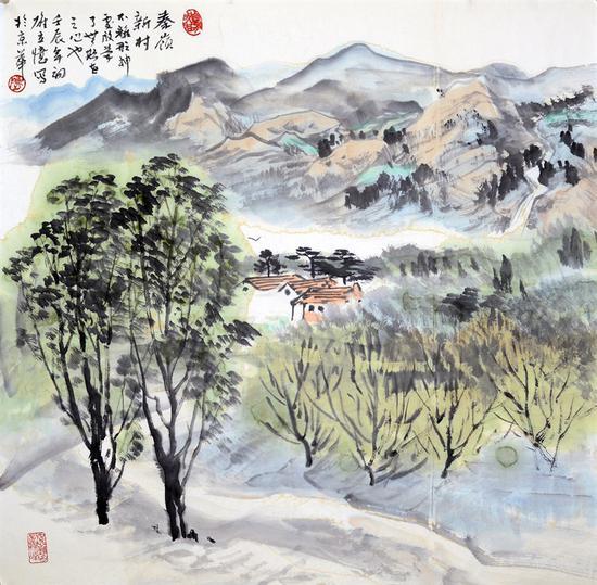 《秦岭新村》61号 68X68厘米 2012年