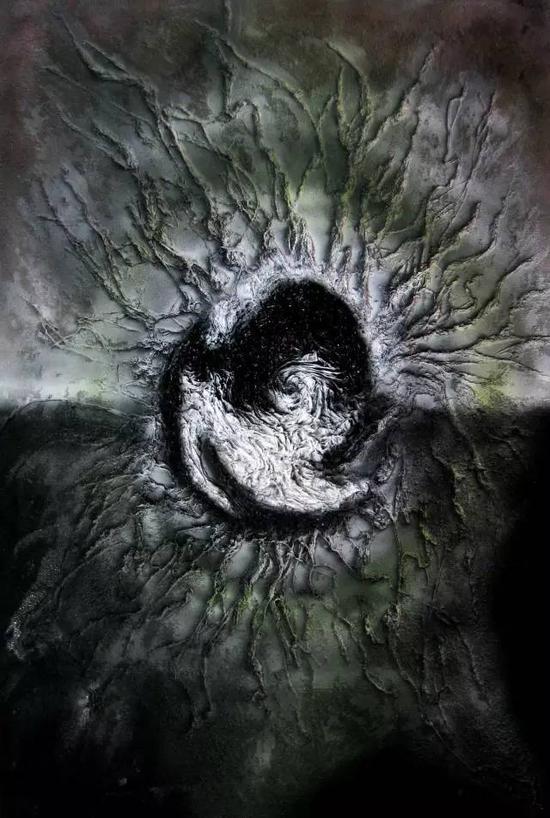 综合材料纤维画《无极系列-3》
