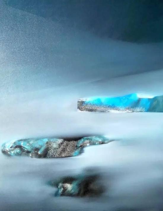 油画《三界-敦煌系列》之19,综合材料,100cm×80cm