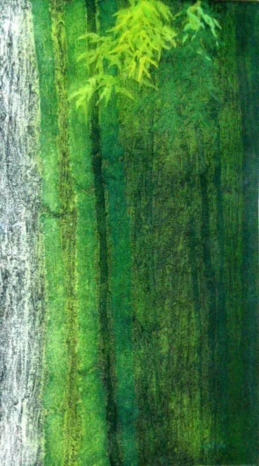 纤维画《竹韵-1》