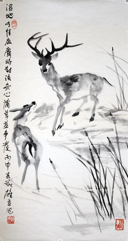 《湿地有情》40号 48X91厘米 2016