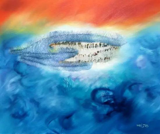油画《三界-意境系列》之90,60cm×50cm