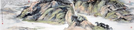 《湘西纪游》58×234厘米 1985年