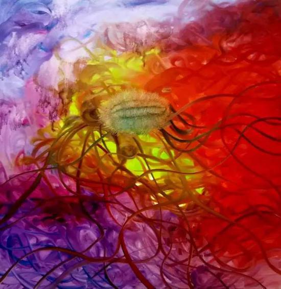 油画《三界-意境系列》之46,167cm×120cm