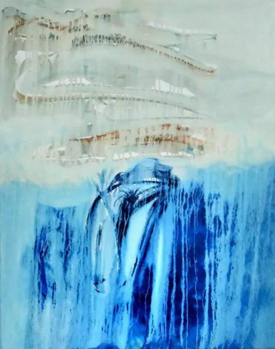 油画《三界-敦煌系列》之24,120cm×100cm