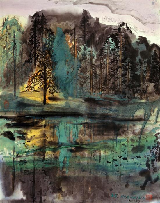 《绿影》陈雄立 68×86厘米 1994年