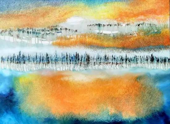 油画《三界-敦煌系列》之8,60cm×50cm