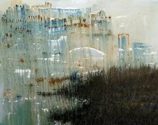 油画《三界-敦煌系列》之4,120cm×100cm