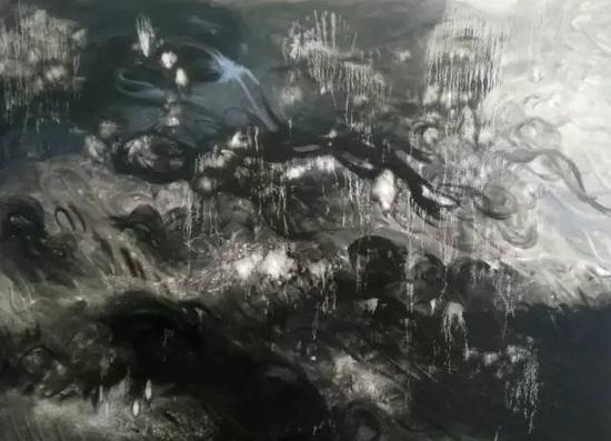 油画《三界-禅境系列》之41,167cm×120cm