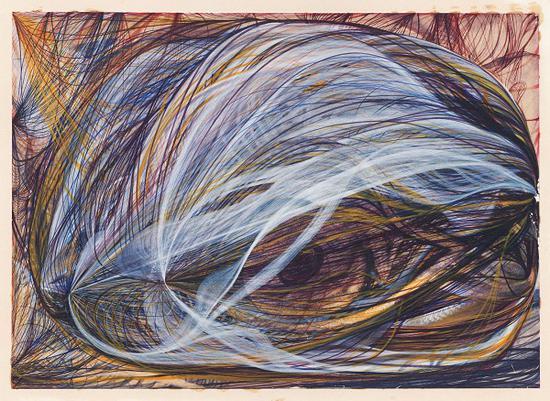 乔治亚娜·霍顿创作于1870年的作品《上帝之眼》。图片来源:Victorian Spiritualists' Union,Melbourne,Australia
