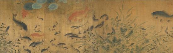北宋 刘窠 《落花游鱼图》(局部)(圣路易斯艺术博物馆)