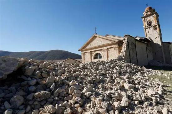 2016年意大利地震后的废墟 图片:PBS