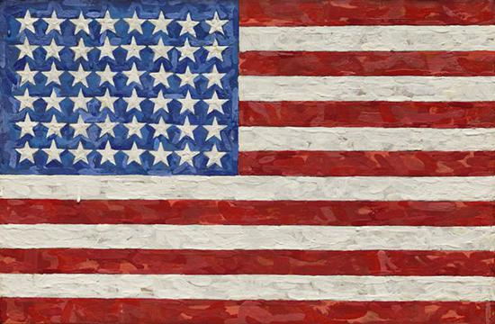 贾斯帕·琼斯(Jasper Johns),《旗帜》(Flag),1983。图片:Courtesy of Sotheby's New York