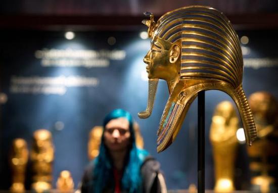 图坦卡蒙黄金面具,此前曾被爆出用人造树脂胡须