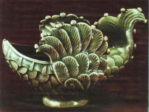 辽耀州窑青釉飞鱼形水盂(辽宁省博物馆)