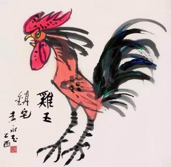 黄永玉《鸡王镇宅》