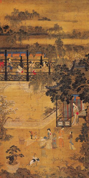 《春庭行乐图》皇宫椅样式(明)