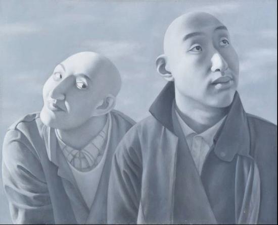 方力钧《系列一之五》。图片:北京保利