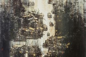 画家高鸣渔港系列作品入选两大国家级展览