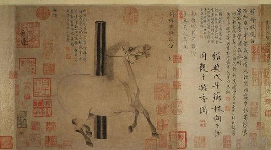 《照夜白图》是唐代绘画中的精品