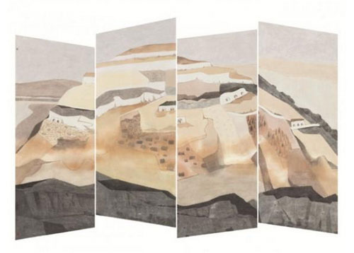 《黄天厚土》-周文学-160x240cm-2016年-纸本设色