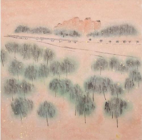 《八里桥与柳荫道》-刘心泉-33x34cm-2007年-纸本水墨