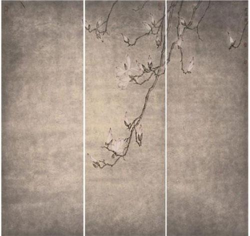 《山中花开》-何先球-105x105cm-2016年-纸本水墨