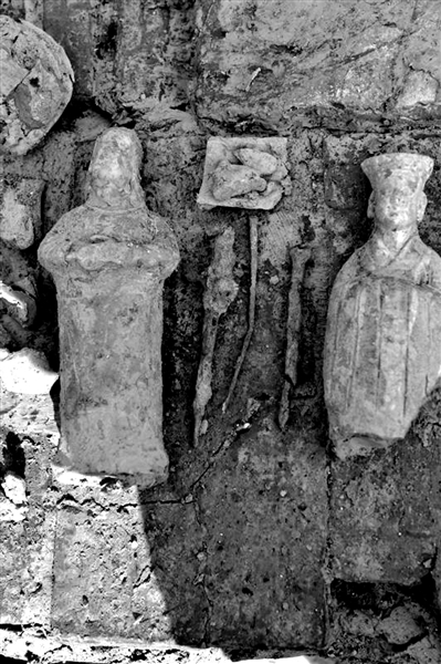 二仙桥宋墓出土的陶俑。市文物考古队供图