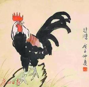 徐悲鸿笔下的鸡