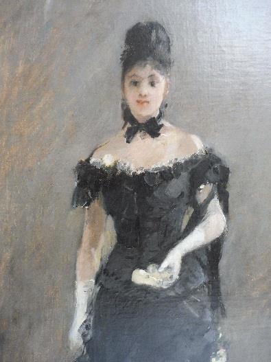 貝尔特?莫里索,《黑衣女人》, 1875 年作,估价: 600,000-800,000 英镑,图源佳士得