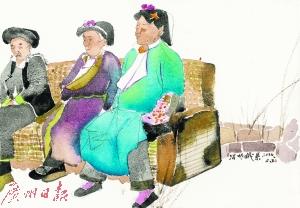 刘庆和 《十日——哲根藏寨》组画之九   纸本水彩2016年