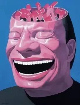 岳敏君 《记忆NO.4》 140×110cm 布面油画 2000 以322万元成交于2016保利(华谊)上海首拍。图片源自网络