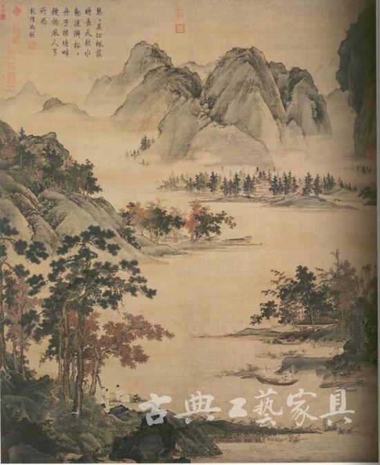 约项元汴22岁时,仇英为其作《秋江待渡图》。