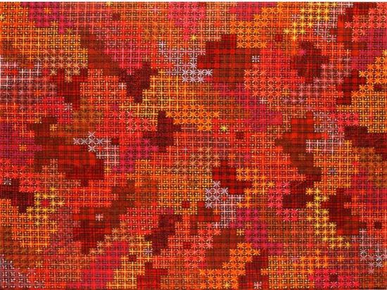 丁乙,十示2003-9 现成品,140x160cm,布面丙烯,2003.