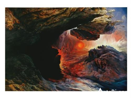 格伦·布朗,《萨尔瓦多·达利的悲剧转换(从约翰·马丁而来)》。图片:Courtesy of the artist